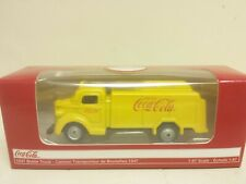 1947 Coca Cola Delivery Bottle Truck Yellow 1/87 Diecast Model Motorcity Classic