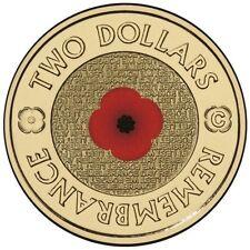 RARE 2012-- $2 C MINTMARK -Australian RSL Remembrance Red Poppy Coin