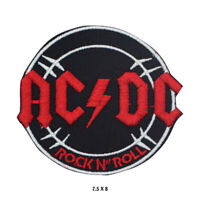 ACDC Rock Music Band Logo Embroidered Patch Iron on Sew On Badge For Clothes