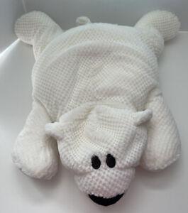 "Jay At Play White Polar Bear Microbead Plush Pillow 24"""