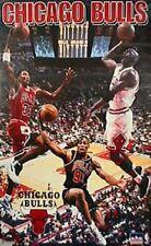 1997 Chicago Bulls Collage Jordan Pippen Rodman Original Starline Poster OOP
