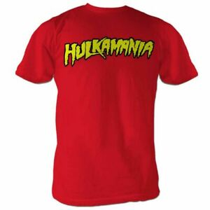 Adult Wrestling WWE Hulk Hogan Hulkamania Logo Red Costume T-shirt Tee