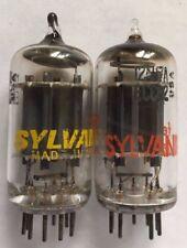 Matched Pair Sylvania 12AU7A ECC82 Tubes NOS NIB