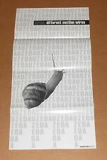 Uzeda Different Section Wires Poster Original Promo 11x22 (snail) RARE