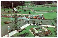 1960's DUTCH WONDERLAND AMUSEMENT PARK LANCASTER PA ARIAL VIEW TRAIN & GROUNDS