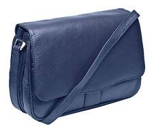 Prime Hide Victoria Range Soft  Navy Leather Ladies Organiser Crossbody Bag