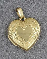 Pretty 9ct Yellow Gold Heart Shaped Locket Ladies/Girls Pendant