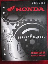 2006 - 2008 TRX680FA/FGA FOURTRAX TRX 680 FA Honda Original Shop Manual V12