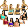 Women Yoga Sports Bra Padded Fitness Gym Workout Strappy Crop Top Vest Running