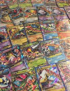 POKEMON CARD LOT TCG 100 CARDS - GUARANTEED EX/GX/V CARD + HOLOS 100% REAL