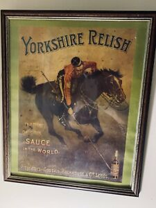 Antique Original Advertising Framed Picture,Yorkshire  Relish,Goodall Blackhouse