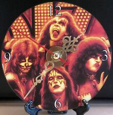 Brand New Animated KISS CD Clock Music Rock and Roll Pop Metal