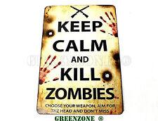 Keep Calm and Kill Zombies Wooden Door Plaque/ Sign for Children's/ Kids Room