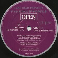 "PAPERCLIP PEOPLE The Climax CARL CRAIG RARE DETROIT ORIGINAL 12"" vinyl OPEN 1995"