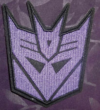 TRANSFORMERS DECEPTICONS EMBROIDERED PATCH AUTOBOTS PURPLE ROBOT DIY