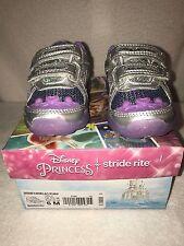 Brand New Stride Rite Disney Ariel Toddler Girl Light Up Purple Sneakers Size 6M