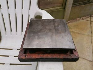Used engineers surface plate. 8 inch square.