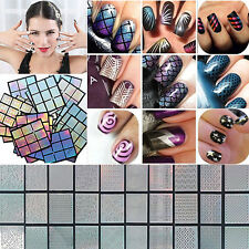 Set Stamp Tool Nail Art Vinyls Autocollants Hollow Template Stencil Stickers