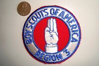 OA BOY SCOUT AMERICA BSA FLAP REGION 3 SCOUT SIGN POCKET PATCH