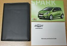 GENUINE CHEVROLET SPARK 2010-2015 HANDBOOK OWNERS MANUAL SERVICE WALLET PACK