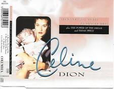 CELINE DION - Because you loved me CDM 4TR Europe 1996 (COLUMBIA)
