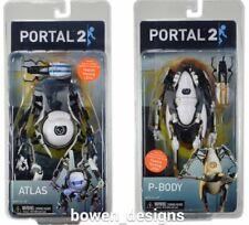 "NECA Portal 2 Atlas,P-Body,Chell 7""Action Figure Set Aperture Science Labs Valve"