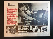 "BURT LANCASTER 11""x14""  ""SEVEN DAYS IN MAY"" 1963 THEATER LOBBY CARD PROMO"