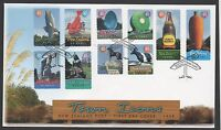 New Zealand 1998 FDC Town Icons set stamps