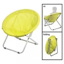 Large Folding Saucer Moon OutDoor Patio Leisure Chair Corduroy Round Seat Living