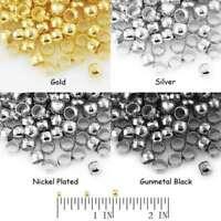 20g(200-1200pcs) Wholesale Round Crimp End Beads Craft Making DIY 2/2.5/3mm MG