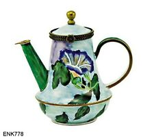 KELVIN CHEN Enamel Mini Teapot-Morning Glory Le Farge