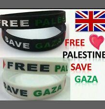 Bandera De Palestina Gaza Libre de Silicona Banda De Muñeca Pulsera de Regalo de soporte de ayuda de caridad