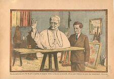 Buste Pape Pie XI Atelier Sculpteur Francis La Monaca  Salon des artistes  1934
