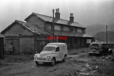 PHOTO  FESTINIOG RAILWAY THE OLD TRACKBED IN FRONT OF THE STATION BUILDING AT TA