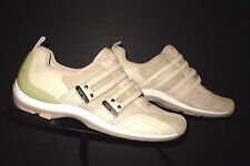 Women's Aetrex Casual Cool Sand Suede Leather Velcro Sneaker Sz. 5M EXCELLENT!