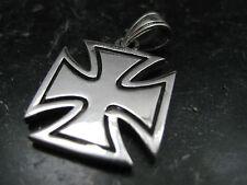 Eisernes Kreuz 925'er Silber Ketten Anhänger Malteserkreuz  / KA 116