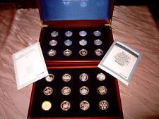 Silbermedaillen Edition 60 Deutsche Jahre Deutsche Post 24 Medaillen 999 KI3401