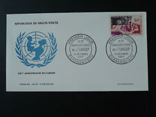 United nations UNCEF child FDC Upper Volta 74266
