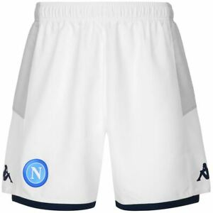 Pantaloncini calcio SSC NAPOLI kappa Kombat ryder 2020 bianco europa