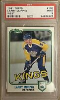 1980 1981 TOPPS Larry Murphy PSA 9 MINT RC ROOKIE #100 Kings Penguins