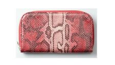 NWT ANN TAYLOR LOFT SNAKE PRINT WALLET RED PETAL COIN POUCH NICE GIFT! $24.50