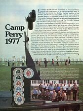 1977 Print Article of NRA National Match Volunteers from 1968 at Camp Perry Ohio