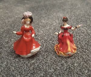 Royal Doulton Figures - Belle (M254) and Patricia (M251)