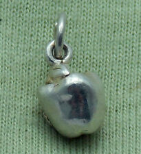 """3D STERLING SILVER """"BIG APPLE"""" CHARM"""