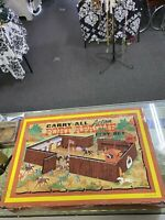 Vintage 1968 Carry-All Action Fort Apache Play Set 4685 Case ONLY Louis Marx Tin