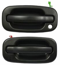 Pair Front Outside Door Handle Texture Black 99-07 Silverado Avalanche Sierra