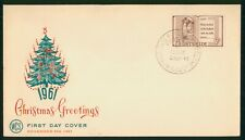 Mayfairstamps Australia FDC 1961 Christmas Greetings WCS Tree Cachet First Day C