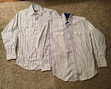Lot Of 2 Vintage Panhandle Slim Men's Western Shirts, Size 15 1/2 X 32
