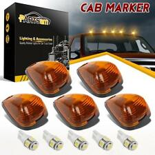 5x Amber Roof Cab Marker Lights White LED Assembly for Ford F250 F350 2010-2014