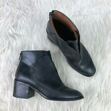 Jefferey Campbell Women's 7.5 Black Leather Jermaine Ankle Boot Booties